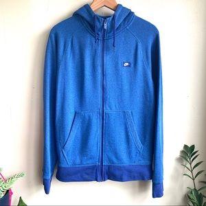 Nike active tech wear blue zip up sweat shirt NWOT